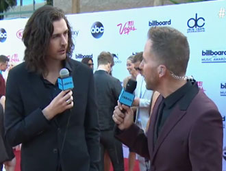 Hozier on the 2015 Billboard Music Awards Red Carpet