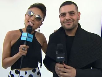 Jeannie Mai & Michael Costello on the 2015 BBMAs Red Carpet