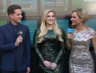 Meghan Trainor & Charlie Puth on the 2015 BBMAs Red Carpet
