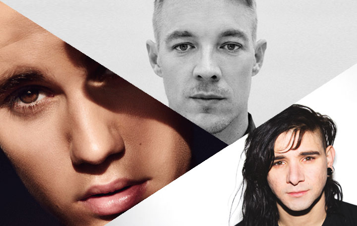 "Skrillex & Diplo ""Where Are Ü Now"" With Justin Bieber"