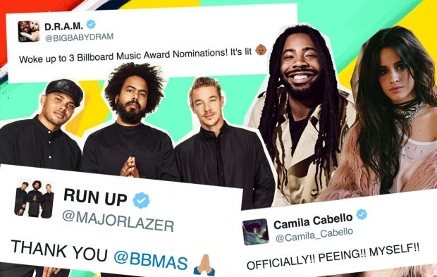 Your Fave Artists React To Their 2017 BBMAs Nominations
