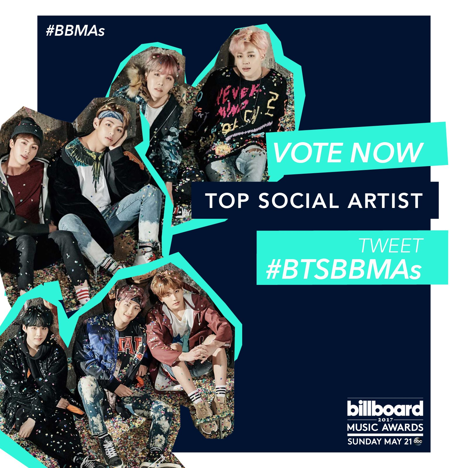 "BTS (Bangtan Boys) >> Album ""The Beautiful Moment in Life: The Notes"" - Página 6 Vote-Now-2017-BBMAs-Top-Social-Nominee_BTS"
