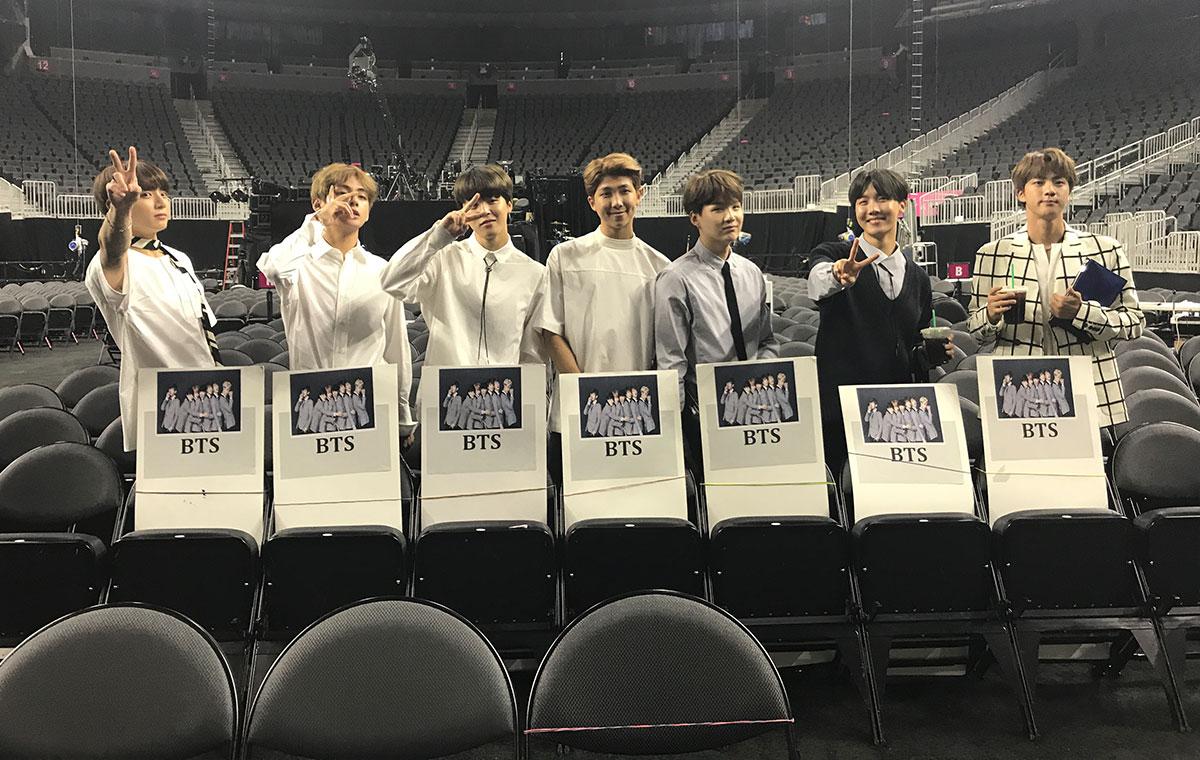 Bts Inside The T Mobile Arena Las Vegas Billboard Music Awards