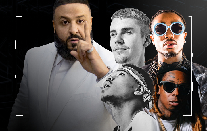 "DJ Khaled ft. Justin Bieber, Quavo, Chance The Rapper & Lil Wayne ""I'm the One"""