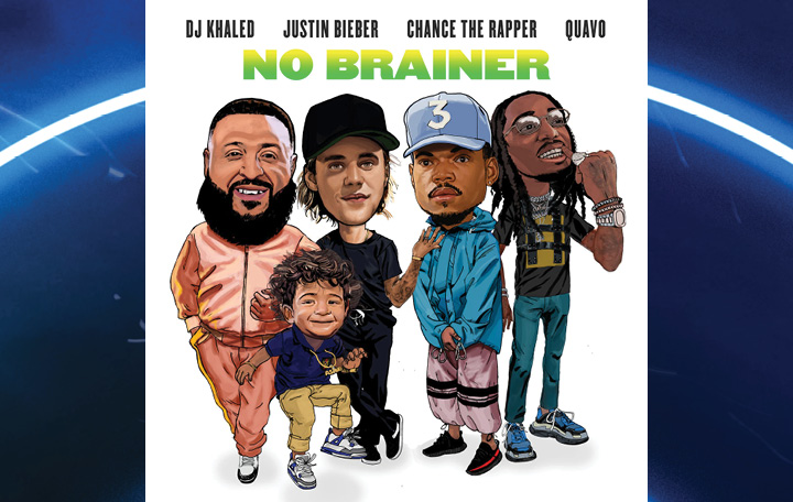 "DJ Khaled ft. Justin Bieber, Chance The Rapper & Quavo ""No Brainer"""